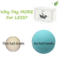 PREMIUM EXTRA LARGE Ultra Lush All Natural Bath Bomb Spa Fizzies 6 - 4.1 Oz each