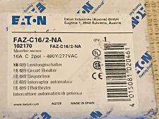 *New* Eaton Faz-C16/2-Na Miniature Circuit Breaker, 16A, C Curve, 2 pole