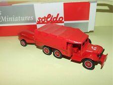 DODGE 6*6 T223 WC 63 + Remorque POMPIERS SOLIDO Boite Carton