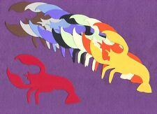 LOBSTER crawfish die cuts scrapbook cards