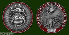 camp leatherneck challenge coin usmc marines oef bulldog afghanistan