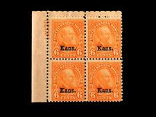 664 KANSAS Garfield 6cent MNH Plate Block top left position CV$650