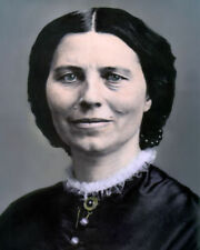 "CLARISSA ""CLARA"" BARTON 1st RED CROSS PRESIDENT 8x10"" HAND COLOR TINTED PHOTO"