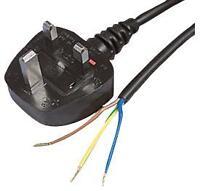 LEAD UK PLUG TO BARE ENDS BLACK 3M Cable Assemblies Mains Power Cords - VX57747