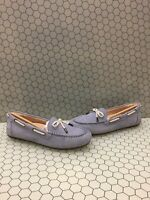 NIB Vionic HONOR VIRGINIA Blue Leather Slip On Moccasin Loafers Women's Size 8.5