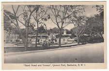 CARTE POSTALE  BAND STAND AND TERRACE QUEENS PARK BARBADOS