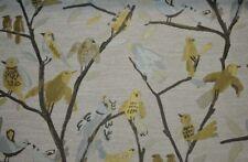 Blue Grey Gold Bird Upholstery Birdseye View Spa Swavelle Mill Creek Fabric