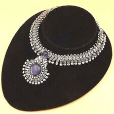 """925 Sterling Silver Plated Amethyst Necklace Vintage Jewelry  20 """"Inch JU13"""