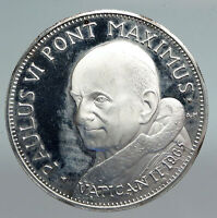 1968 VATICAN CITY Pope Paul VI SAINT PETER'S BASCILIA Old Silver Medal i90786