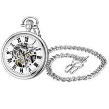 Stuhrling Original 3980 1 Mechanical Skeleton Mens Pocket Watch
