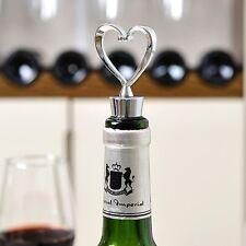 Hot Elegant Heart Shaped Red Wine Bottle Stopper Twist Wedding Favors Gifts