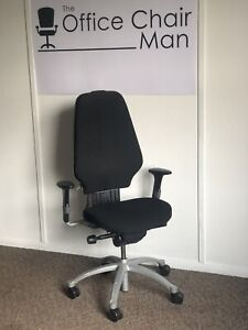 RH 400 High Back Orthopaedic Executive Operator Chair Later 3 Button  Black