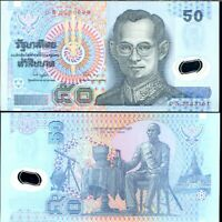 THAILAND 50 BAHT 1997 P 102 SIGN 74 POLYMER REPLACEMENT S UNC