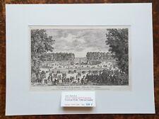 XVII ème - Paris I er  Superbe Gravure Grande Allée Palais des Tuileries - 1670