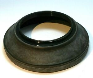 52mm screw in Rubber Lens Hood Shade for wide angle 28mm 35mm lenses