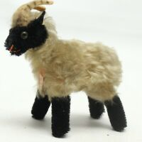 VTG 1960s Steiff Snucki Ram Stuffed Animal Horns Mohair Sheep Glass Eyes ID Tag