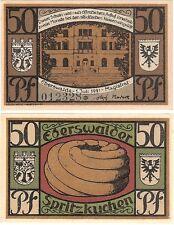 Germany 50 Pfennig 1921 Notgeld Eberswalde UNC Uncirculated Banknote