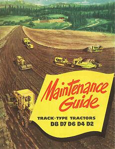 Caterpillar Maintenance Guide D8 D7 D6 D4 D2 Booklet