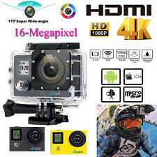 "2"" 4k Ultra-hd 16mp Sports WiFi Action Camera Helmet Cam DV 1080p Video Recorder"