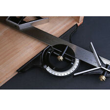 30.5cm Acier Inoxydable Réglable Équerre à Combinaison Angle Règle Outil de