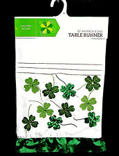 TABLE RUNNER 13''X72''.ST PATRICKS DAY BEAUTIFUL QUALITY POLYESTER TABLE RUNNER.