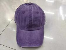New fashion and popular washed hat denim fabric Purple baseball cap