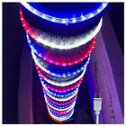 100ft/30m Led Rope Lights Lamps Kit Indoor Outdoor 100 Feet Red White Blue Decor
