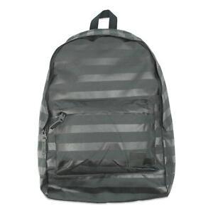 Nixon Mens Nylon Striped Backpack Black One Size New