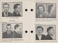 1956. George Walker. Clifford Wood. Edith Scott. McNamara, Riley. Glover QR1179