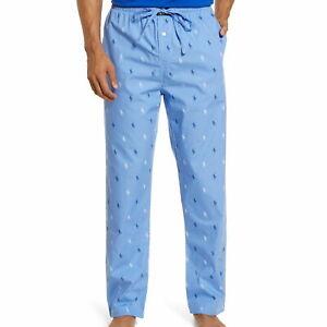 Polo Ralph Lauren Mens Blue/White Pajama Lounge Pants $44