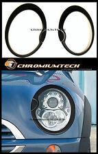 2001-06 MK1 MINI Cooper S Hatch/ Convertible BLACK Xenon Headlight Surrounds R53