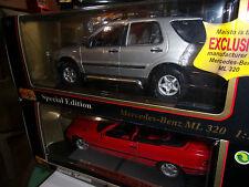 1:18 MAISTO Special Edition Mercedes Benz ML 320 de 1997 ARGENT NEUF EN BOITE