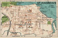 ST. ANDREWS. Vintage town city map plan. Scotland 1932 old vintage chart