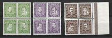 Denmark - 1924 Post anniversary complete set Blocks of four - MNH