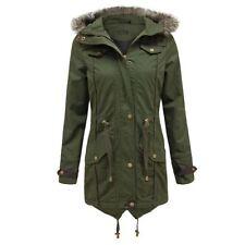 Cotton Faux Fur Regular Casual Coats & Jackets for Women