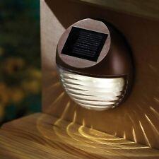 DECORATIVE WIRELESS GARDEN SOLAR LIGHTS OUTDOOR FENCE STEP GUTTER FENCE LAMPS