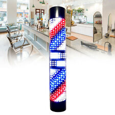 Barber Shop Led Pole Light Rotating with Red Blue Stripes Hair Salon Sign Lamp