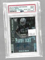 Khalil Mack 2014 Contenders Playoff Ticket Rookie Foil #45/99--Raiders