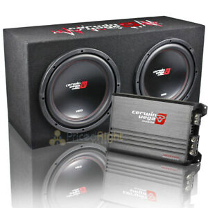 "Cerwin Vega Dual 12"" Subwoofer and Amplifier Complete Enclosure Kit BKX7212S2"