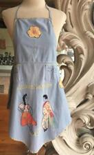 Vintage Juarez Mexico Embroidered Applique Souvenir Bib Apron