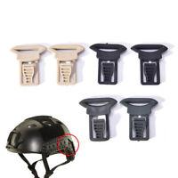 2x Fast casque vision lunettes boucles clips airsoft casque tactique accessoires
