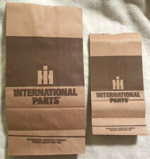 2 Original IH International Harvester Parts Sack, Tractor, Machinery Bag