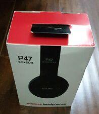 Bluetooth Headphones TF Card/FM Stereo Radio, MP3 Player Wireless P47 5.0+EDR