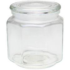 2 LITRI ESAGONALE VETRO TRASPARENTE Contenitore Jar Container di immagazzinamento con coperchio impermeabile all'aria