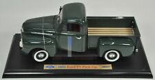 1951 FORD F1 PICK UP TRUCK 1:18 DIE CAST METAL GREEN WELLY COLLECTION 9847W