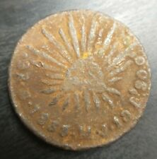 1833 Go MJ Mexico 2 Real Reales Shipwreck Raw Rare Coin Pirate Treasure