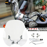 Universal 7/8'' 1'' Motorcycle Windshield Windscreen For Harley Honda