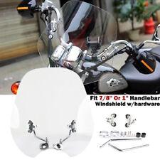 Universal 7/8'' 1'' Motorcycle Windshield Windscreen For Harley Honda