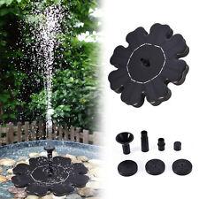 New listing Solar Power Birdbath Water Floating Fountain Pump Pool Garden Outdoor Decor Hot