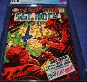 OUR ARMY AT WAR #191 CGC 8.0 JOHNNY CLOUD APPEARANCE. JOE KUBERT COVER & ART!